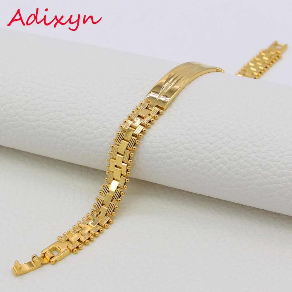 Adixyn African/India Bracelet Fashion Jewelry Gold Color Watch Bracelets Bangles Men Jewelry Ethiopian/Dubai Items