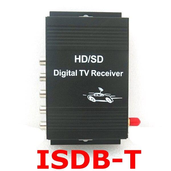 Récepteur de télévision numérique de voiture ISDB-T 190 km/h Tuner de télévision de voiture 4 sortie vidéo pour le brésil chili argentine pérou amérique du sud japon