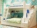 Двухместный твердой древесины двухъярусная кровать для детей