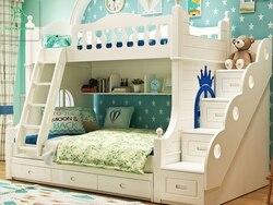 Двухъярусная кровать из твердой древесины для детей