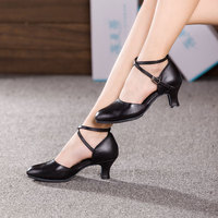 NEW Women's Ballroom Latin Dance Shoes High Quality Cow Leather Tango Dancing Shoes Heeled 3.5/5.5/7 cm Salsa Shoes