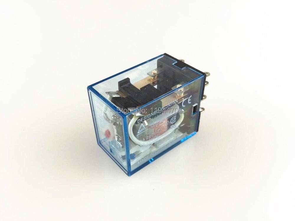 Batterie relais puissance MY2NJ 220V | Mini bobine AC DPDT 2NO 2NC, 8 broches 5A 240VAC HH52P, 10 pièces/lot