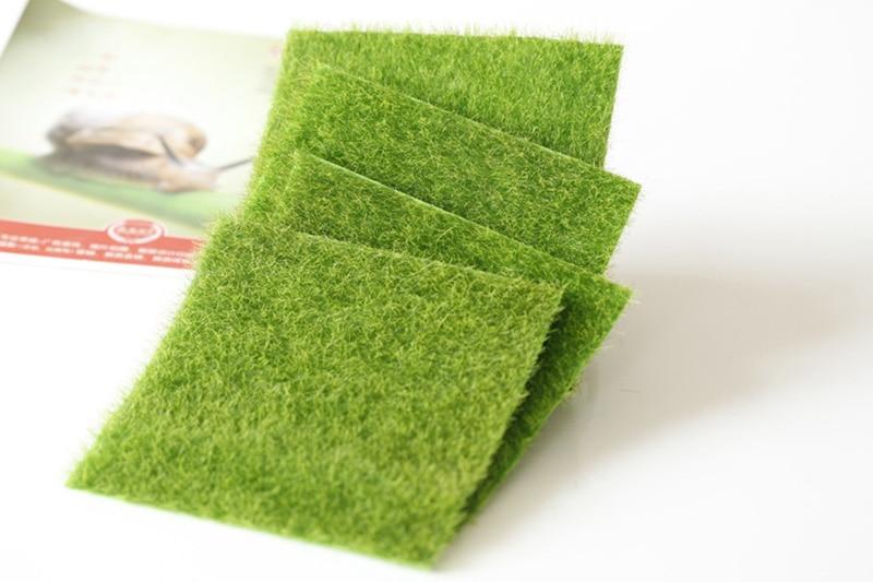 Flone Artificial PVC Grass Lawn False Moss Fake Turf Micro Landscape Decoration Accessories Home Living Room Decoration (4)
