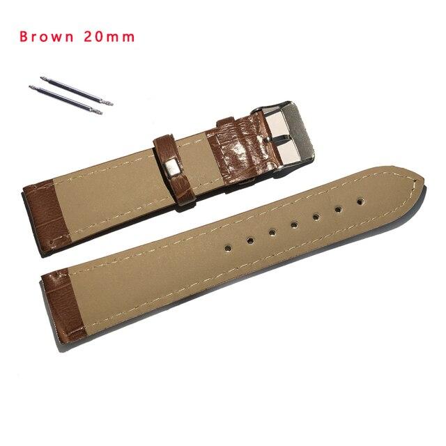 DOM 18mm 20mm 22mm Watch Accessories Women's Men's Unisex Leather Watch Strap Black Brown Buckle Watchbands