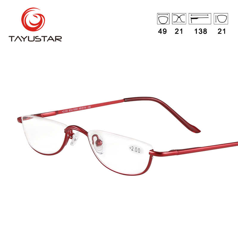 9e358117f9a ... MEESHOW Design Reading Glasses vintage Men Women Eye Glasses Half Rim  With Case Classic Stainless Steel ...