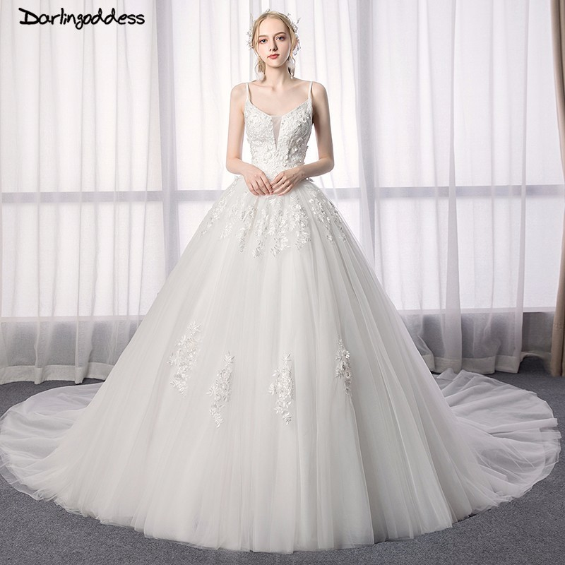 Wedding Ball Gowns With Straps: Luxury Ball Gown Wedding Dresses 2018 Plus Size Lace
