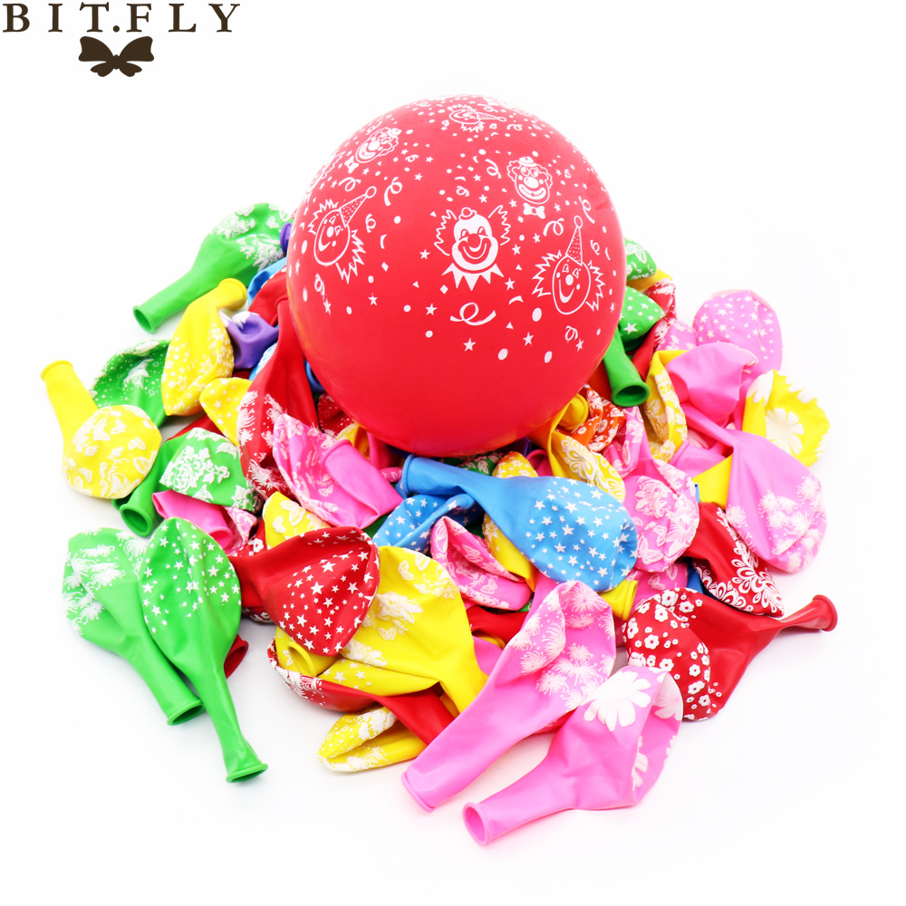 Dedicated Bitfly 100pcs 12inch Round Big Latex Balloons Air Balls Inflatable Wedding Party Happy Birthday Christmas Decoration Kids Toy Home & Garden