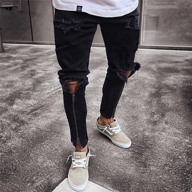 Ripped Jeans Super Skinny for Men 2