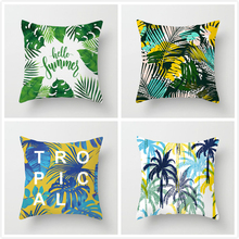 Fuwatacchi  Leaf Geometry Wedding Throw Pillow Cover Tropical Plant Cushion Cover for Car Home Chair Decoration Pillow Case 2019 fuwatacchi leaf geometry wedding throw pillow cover tropical plant cushion cover for car home chair decoration pillow case 2019