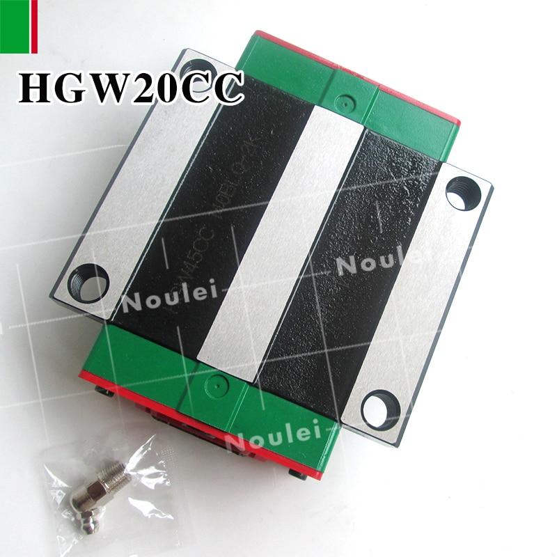 ФОТО HIWIN HGW20CC HGW20CA 2PCS linear guides block for 20mm slide rail HGR20 High efficiency CNC router HGW20