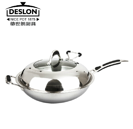 German Deslon Stainless Steel Wok Non Stick Cookware Kitchen Wok