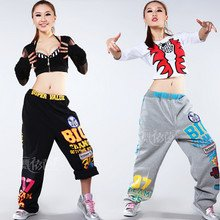Fashion embroidery cotton HIP HOP street dancing/street dancewear/DS dance wear/hip hop dance pant/thick sport trouers/JAZZ wear-in Ballroom from ...