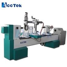 купить High speed factory price cnc lathe sewing machine baseball bat cnc wood turning lathe по цене 390787.2 рублей