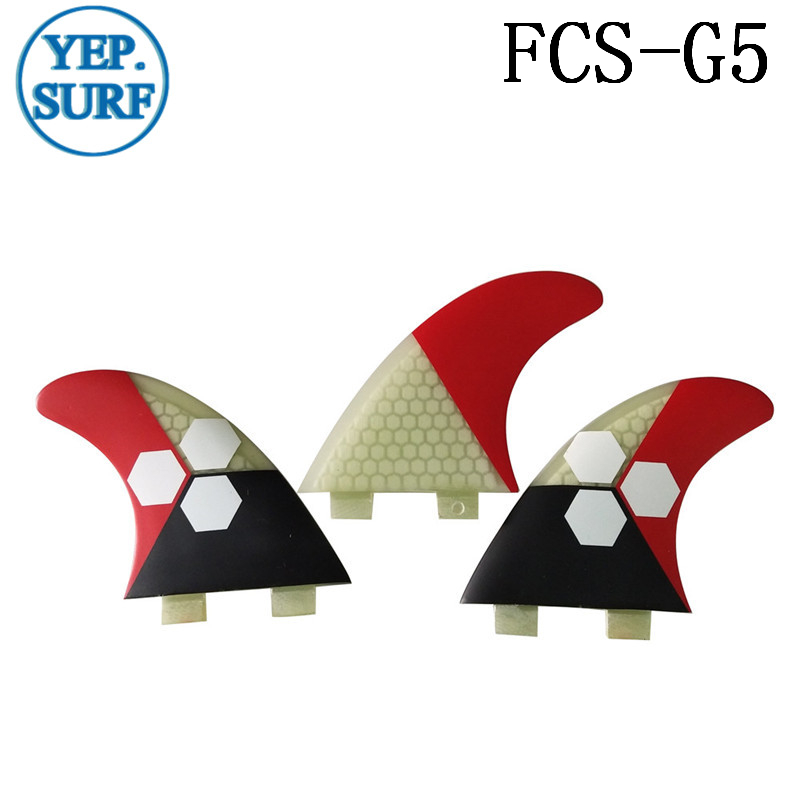 Surf Fins FCS G5 Fin Honeycomb Surfboard Fin 5 Color Surfing Fin Quilhas Thruster Surf Accessories