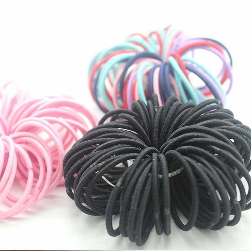 100 ピース/ロット 3 センチメートルヘアアクセサリー女の子ゴムバンドシュシュ弾性ヘアバンドバンドキッズベビーカチューシャ装飾ネクタイのための髪