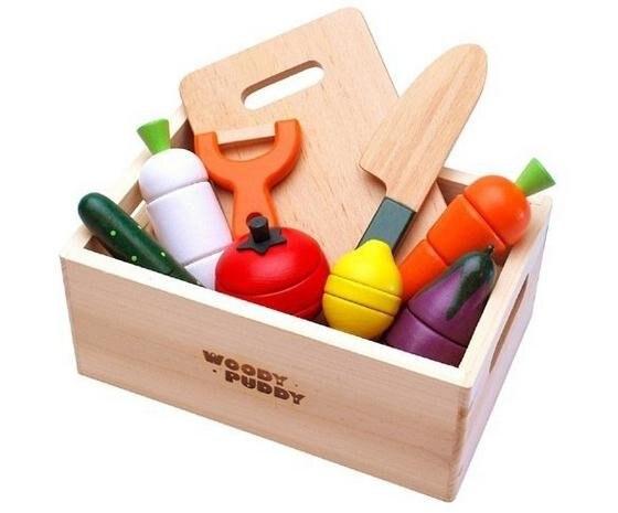 Houten Keuken Speelgoed : Gratis verzending woody puddy groenten magnetische speelgoed sets