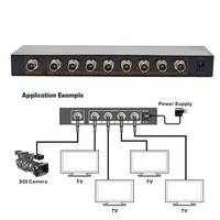 300M 1X8 SDI Splitter Distributor SDI Extender Switcher Support SD/HD/3G SDI for SDI Camera Security System High Quality