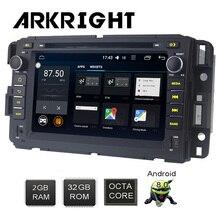 7 «2 ГБ + ГБ 32 2Din Android 8,0 Octa Core для Chevrolet Traverse Tahoe Suburban GMC FM gps навигации микрофон Мультимедийный Плеер