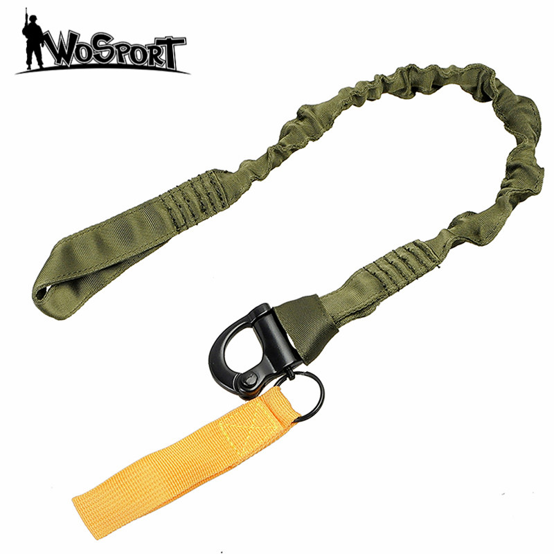 Tactical Military Quick Release Gun Sling Safety Lanyard Sling Airsoft Rifle Nylon Rope Bungee Strap Hunting Accessories