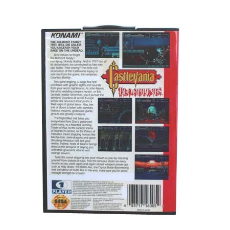 Castlevania Bloodlines - Boxed Version - Sega Mega Drive And Genesis 2