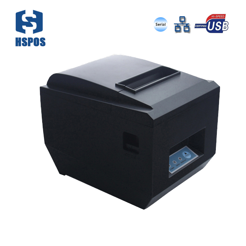 high quality 80mm usb lan and serial port receipt printer malaysia with auto cutter support raster bitmap printing for store low cost and high quality thermal printing cheap pos80 receipt printer support linux windows10 use for business hs 825uc