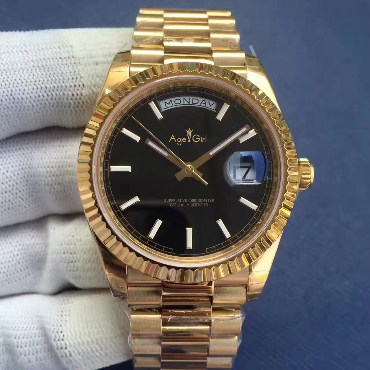 Здесь можно купить  Luxury Brand New Men Daydate Gold Silver Black Green Watch Automatic Mechanical Stainless Steel Sapphire Day-date Watches 41mm  Часы