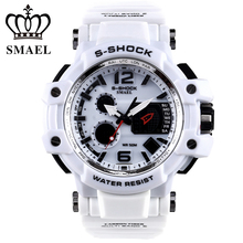 Sport Montre Hommes G Style Horloge Mâle LED Numérique de Quartz Blanc Montres Hommes Top Marque De Luxe Numérique-montre Relogio Masculino