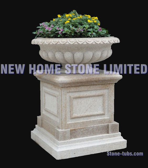 outdoor planter large garden decoration flower pot manufacturers 2015 classic light grey granite polished flower pot - Large Garden 2015