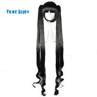 Your Style Long Straight Two Ponytails Anime Cosplay Wigs Black Costume Lolita Party Hair Synthetic High