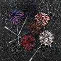 Comércio por grosso Misto 6 Pçs/lote Artesanal Requintado High-end dos homens Floral Lapela Pinos Broche de Flor Acessórios Do Casamento Casual Mens