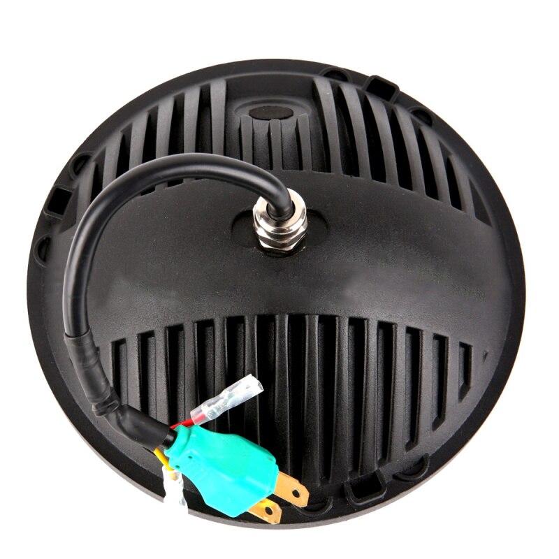 Faduies 7 дюймов круглый светодиодный Фары для автомобиля 60 Вт Hi/lo угол луча глаз DRL и янтарный сигнал поворота для jeep Wrangler JK TJ LJ CJ Hummer H1 H2