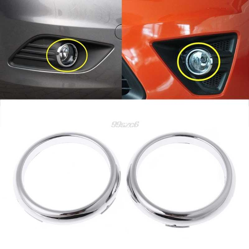 1 Pasang ABS Chrome Front Fog Light Lamp Cover Trim untuk Ford Focus 2 Mk2 2009-2012 Feb20 DROP kapal