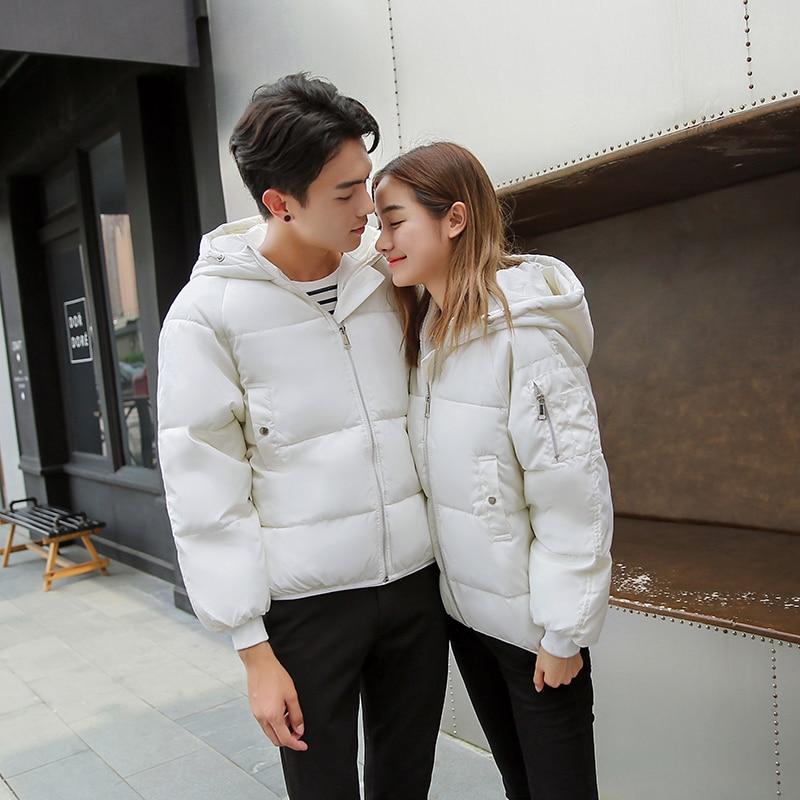 Size gray Guuzyuviz Warm Plus Jackets white Coat Hiver Loose Casual Winter Thicken Womens Veste Black Cotton Solid pink Women Boyfriend BBwrFzx