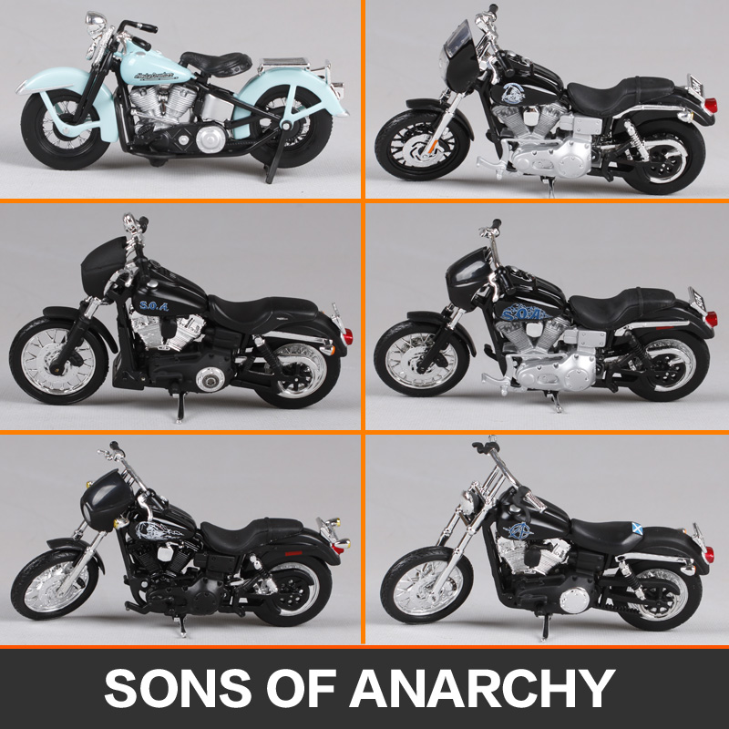 Maisto 1:18 harley jt opie jax chibs tig son of anarchy motorcycle diecast present motorbike model motorcycle toy diecast 35024