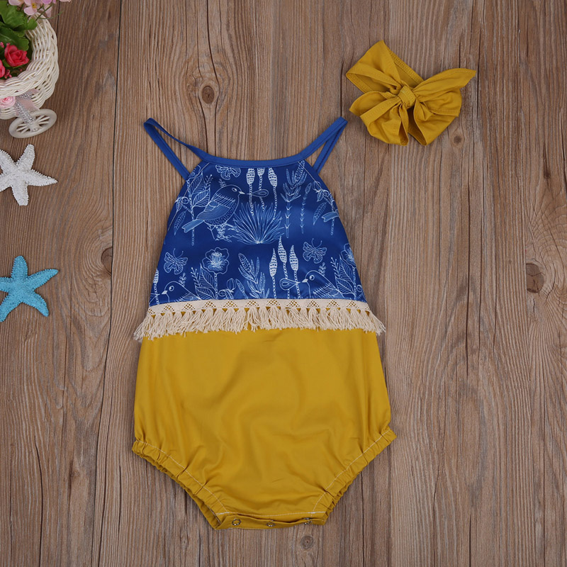 Newborn Infant Baby Girl Bodysuit Floral Romper Jumpsuit Outfit Clothes+Headband bodysuit baby girl clothes