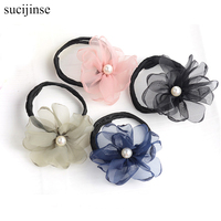 Fashion Headbands Jewelry fluffy flowers headdress For Women Styling Tools bridal Hair Accessories Tie Hair Clip tiara