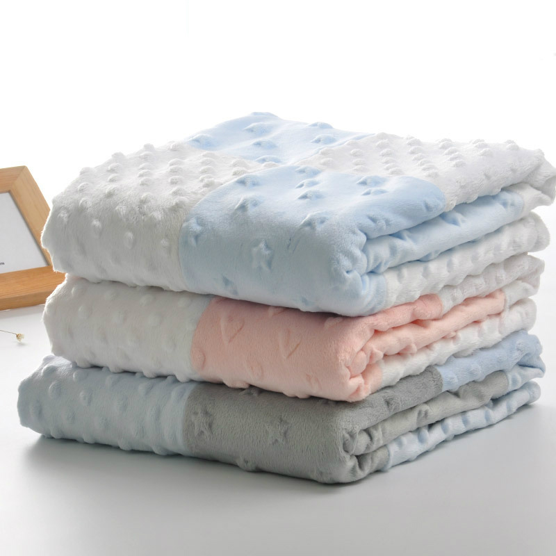Minky Blankets Soft Flannel Blanket Newborn Toddler Infant Baby Swaddle Warp Nursery Bedding Stroller Blankets Bubbles 75*100CM aibeile 2017 new 3 colors bear elephant flannel baby blanket newborn soft cartoon blankets 100 100cm for beds thick warm kids