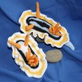 Sea Slug  crochet baby shower   house room decrotive, gift for freind,photo use