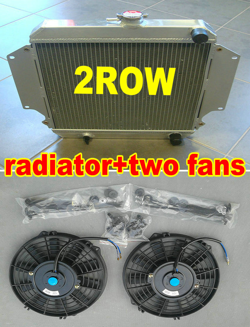 Aluminum Radiator Fit For 1986-1988 Suzuki Samurai 1987 1.3L I4 2Row Fan
