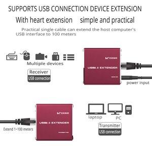 Image 4 - MT VIKI USB di alta qualità dellestensore 100M di USB2.0 al ripetitore di USB di estensione di kabel di UTP della LAN RJ45 con MT 450FT di potere