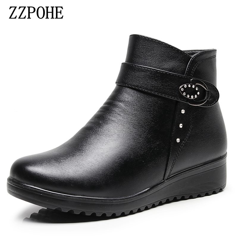 E Toy Word High Quality Winter Warm Snow Boots Fashion Stitching Set Feet Women Boots Flat Waterproof Lamb Plush Mid-calf Boots Shoes Mid-calf Boots