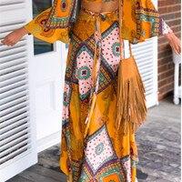 夏東南アジアスタイルボヘミアンプリントアゲハチョウ不規則な女性のスカート