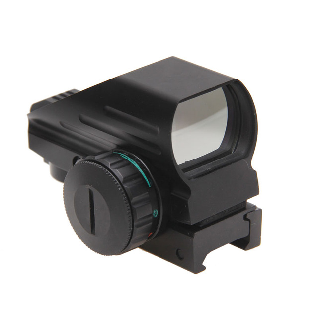 Hunting Optics Sight 1x22x33 Compact Reflex Red Green Dot Sight Riflescope 4 Reticle Sight for Airsoft With Weaver 21mm hunting sports riflescope optics holographic green red dot reflex sight with 4 various reticle 20mm rails mount