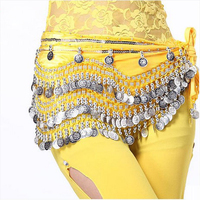 New Style Belly Dance Costumes Velvet Silver Coins Belly Dance Hip Scarf For Women Belly Dancing