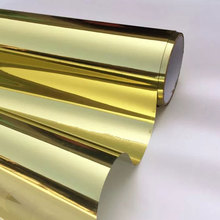 Length 200cm Gold Silver Solar Mirror Window Film One Way Glass Sticker Privacy UV Reflective Home Office Kitchen bedroom