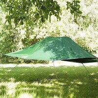 플라이 탑 셀프 드라이빙 투어 캠핑 해먹 모기장 일시 중지 텐트 알루미늄 폴 방수 초경량 교수형 트리 텐트