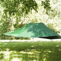 Flytop tour Auto-guida di campeggio amaca Zanzara netto Sospeso tenda Palo di Alluminio Impermeabile Ultralight appeso albero di tenda