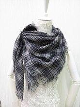 2015 new wool square scarf 100% wool scarf women fashion wool square scarf,tartan scarf gray size:110×110