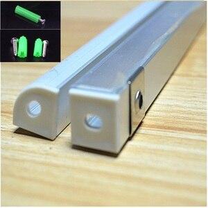 Image 5 - 10 개/몫 2 미터 45도 알루미늄 프로파일, 10 개/몫 led 스트립 10mm PCB 보드 주도 바 빛