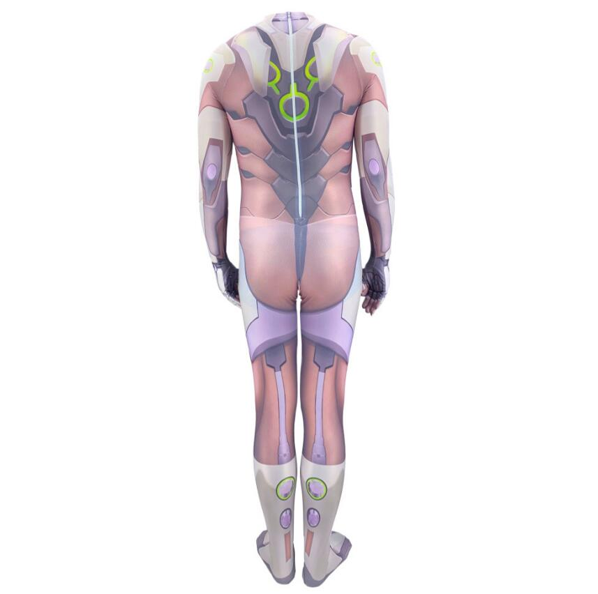 Game Saints' All Hallows' Day Overwatch Genji Cosplay Costumes 3D Printed Halloween Zentai Jumpsuit Tights for Adults/Kids 5
